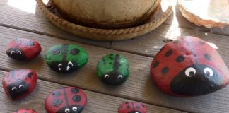 tips for decorating gardens with painted rocks