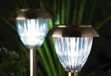 solar vs. electric garden lights